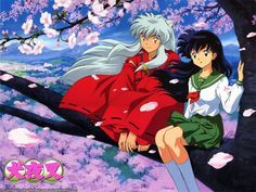 Inuyasha and Kagome ^.^ ♡ I give good credit to whoever made this