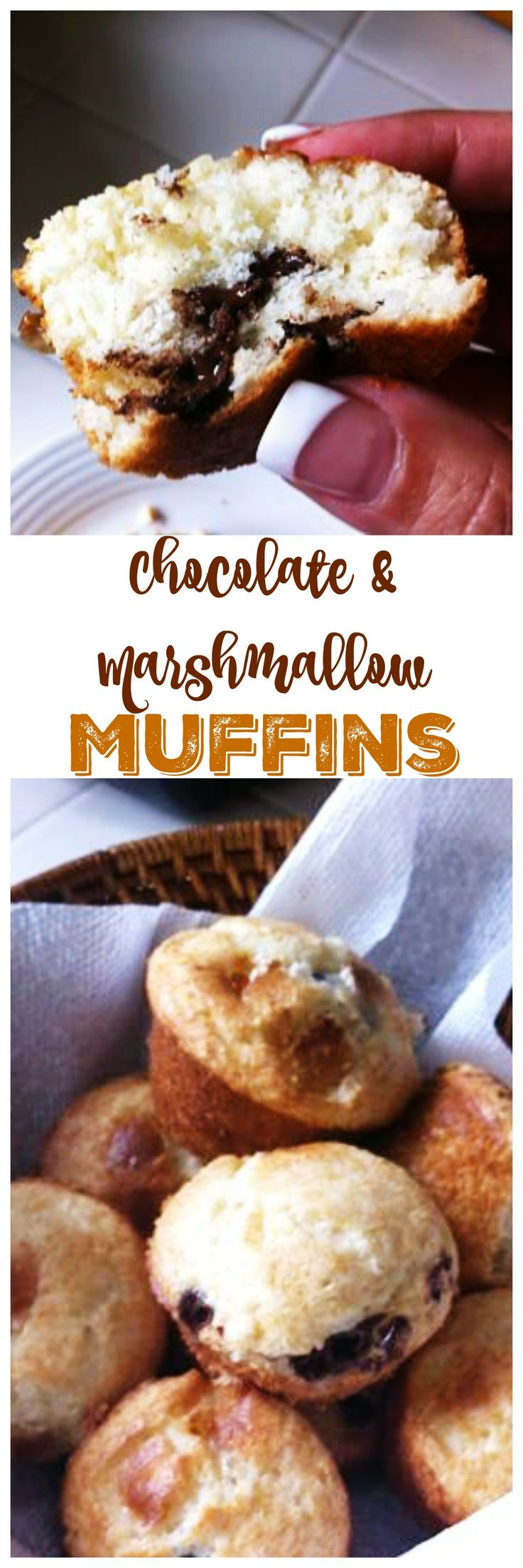 Chocolate and Marshmallow Muffin recipe - perfect for breakfast or lunch box