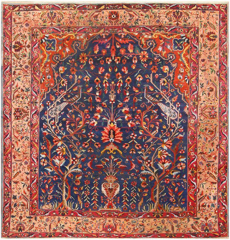 Antique Persian Bakhtiari Tree Of Life Rug 48004 Nazmiyal Rugs