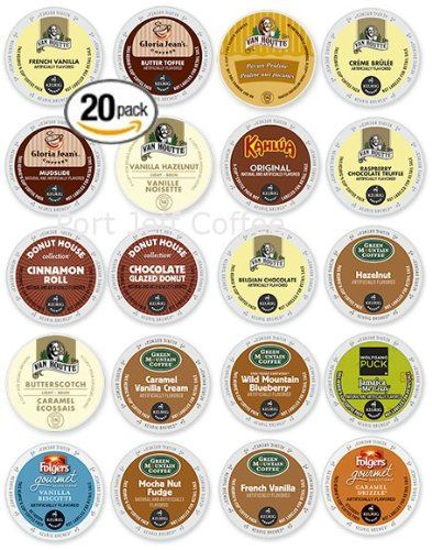 20-count K-cup for Keurig Brewers Flavored Coffee Variety Pack 20 Different Flavors Featuring Van Houtte, Kahlua, Green Mountain, and Gloria Jean's Cups - http://thecoffeepod.biz/20-count-k-cup-for-keurig-brewers-flavored-coffee-variety-pack-20-different-flavors-featuring-van-houtte-kahlua-green-mountain-and-gloria-jeans-cups/
