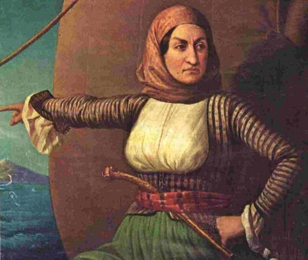 HARD CORE WOMAN OF HISTORY - Laskarina Bouboulina was a Greek naval commander and revolutionary captain who fought in the successful Greek/Hellenic War of Independence against the Ottomans.