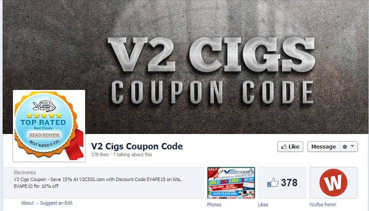 https://www.facebook.com/V2CigsCouponCode - v2 cigs coupon Come have a look at our website. https://www.facebook.com/bestfiver/posts/1434236093456028