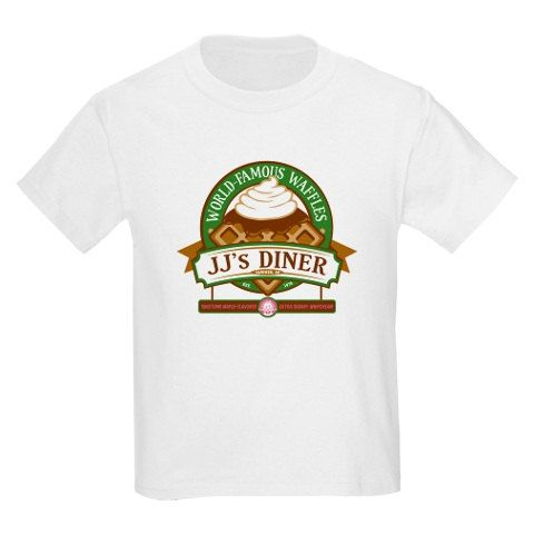 """Parks and Recreation Onesie: """"JJ's Diner World Famous Waffles """" Ron Swanson - Leslie Knope - Toddler - Youth - Adult - T-Shirt"""