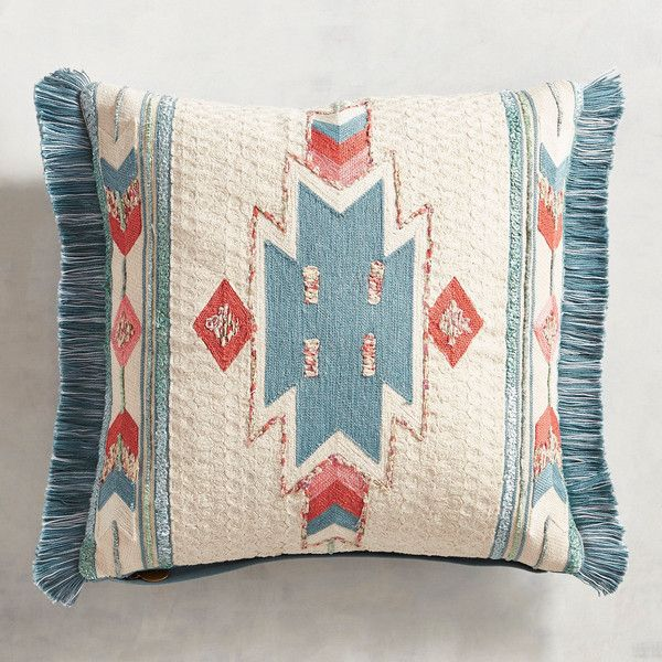 Pier 1 Imports Centered Tribal Pattern Fringed Pillow ($40) ❤ liked on Polyvore featuring home, home decor, throw pillows, natural, pier 1 imports, tribal throw pillows, southwestern throw pillows, southwestern home decor and fringed throw pillows