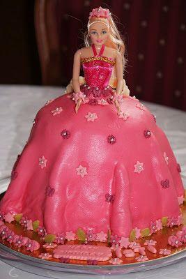 Kreasi Dapur Iis Sukendar: Pink Barbie Doll Cake