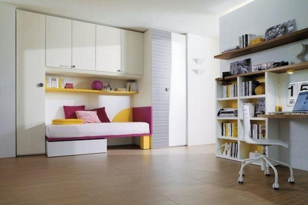 chambre fille aménagement intelligent petit espace