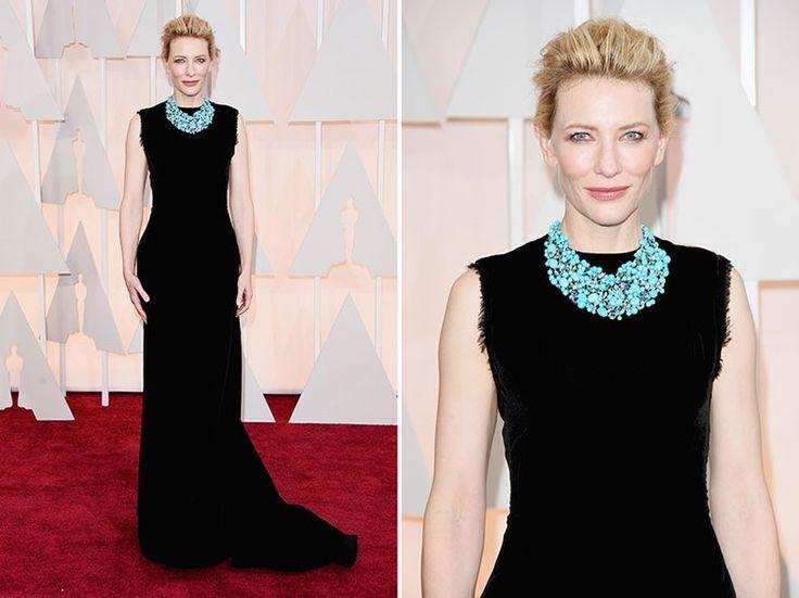 Cate Blanchett - Sempre impecável e ao mesmo tempo cool, ela arrasou com um look preto assinado por John Galliano, novo diretor criativo da Maison Martin Margiela. Para complementar o look, um colar luxuoso da Tiffany & Co