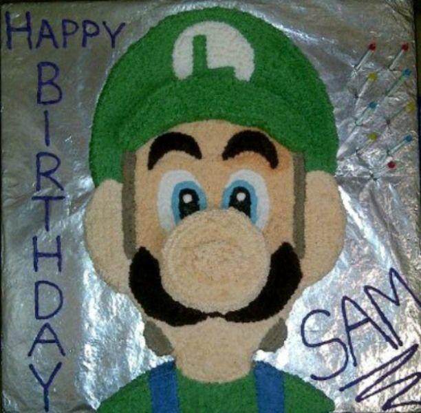 luigi+cake+pictures | Luigi Birthday Cake — Birthday Cakes