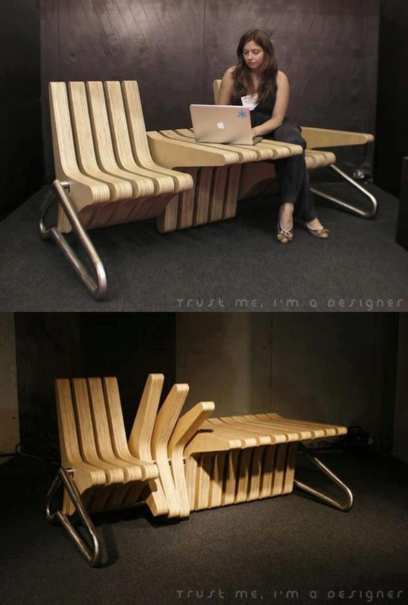Transformable Seating random-things.  Don't know if I like the look of this, but cool concept.