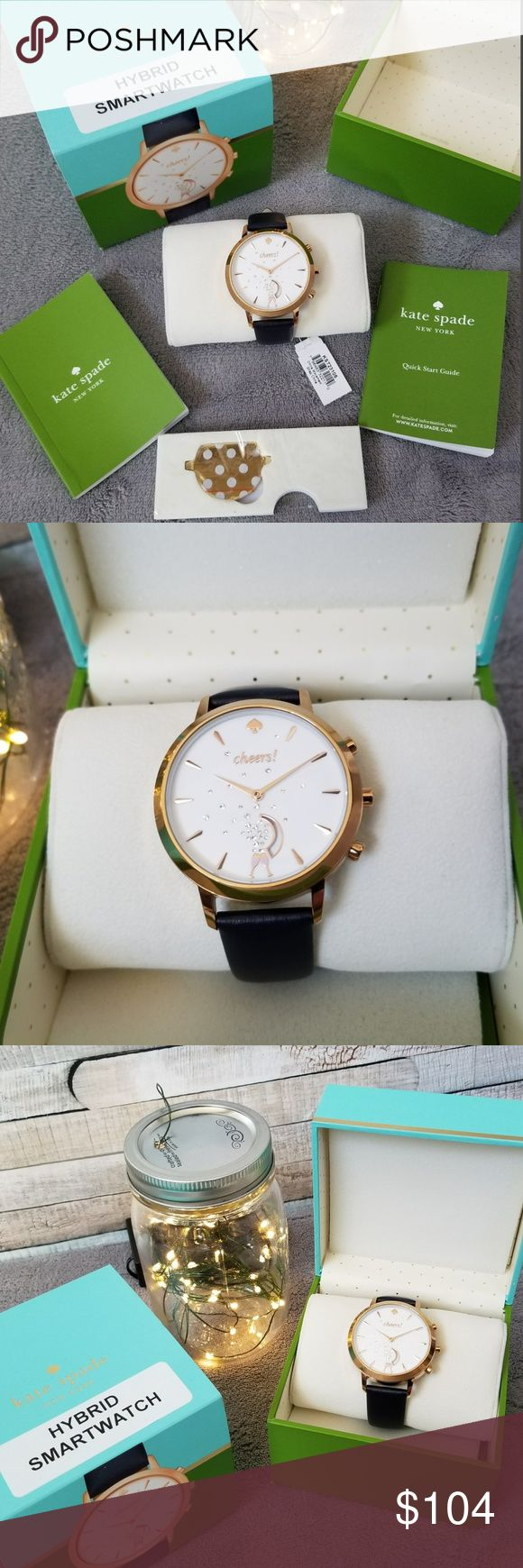 Kate Spade Hybrid Smartwatch NWT Gorgeous Kate Spade Hybrid Smartwatch with navy leather band - Brand new in box!! Compatible with android or Apple operating systems Tracks Sleep, Steps, and Personal Goals Create Notifications, Reminders, and set Alarms Control your favorite playlists and more! kate spade Accessories Watches