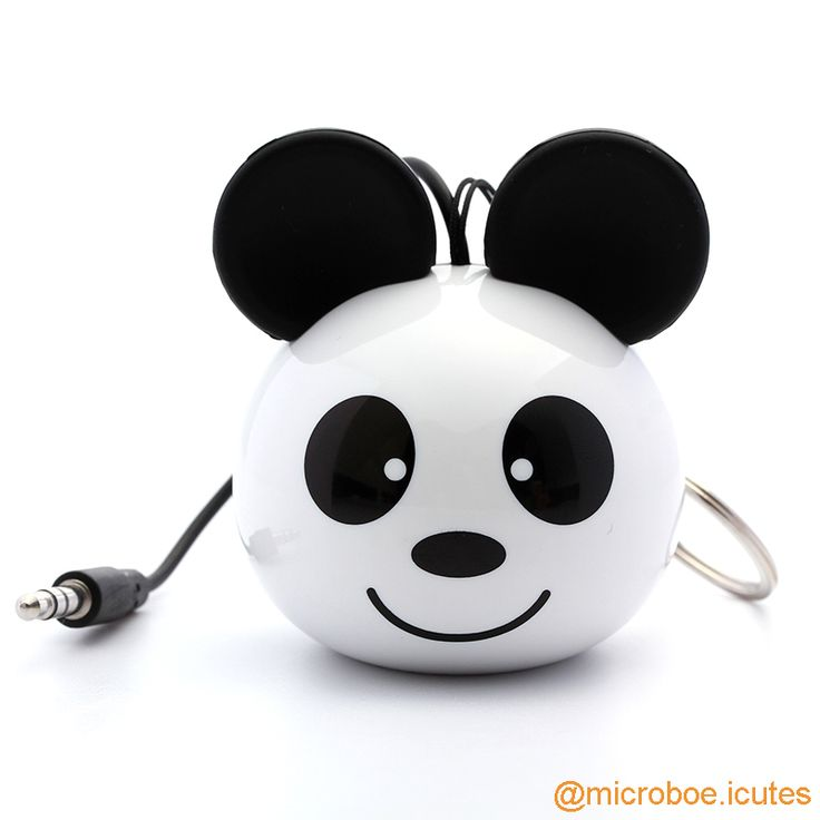 Sweet Panda Portable Mini Speaker; Built-in rechargeable Li-ion battery (180mAh); Output Power: 2W (RMS, THD=10%); Speaker Unit: 36mm  4Ω; Frequency: 100Hz-20KHz; S/N Ratio: ≥80db; Dimensions: Dia50×H70mm