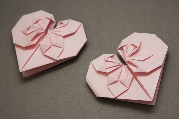 kako naredimo origami srček