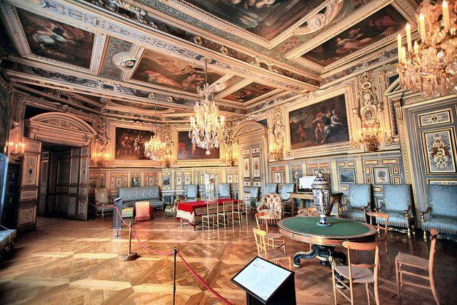 D cor louis xiii fontainebeau appartements royaux salon for Chambre louis 13