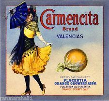 Carmencita Brand - Fullerton and Placentia, California