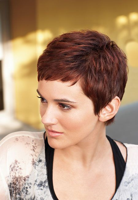 Cool and Attractive Cherry Red Pixie Cut This is it!!!!  Love it! Want it!!