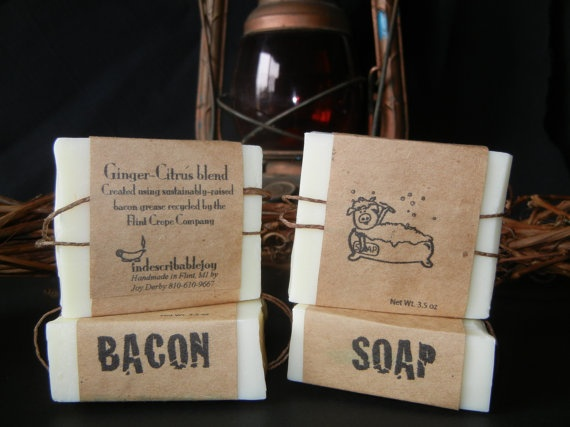 Bacon Soap  gingercitrus blend by Indescribablejoy on Etsy, $5.95