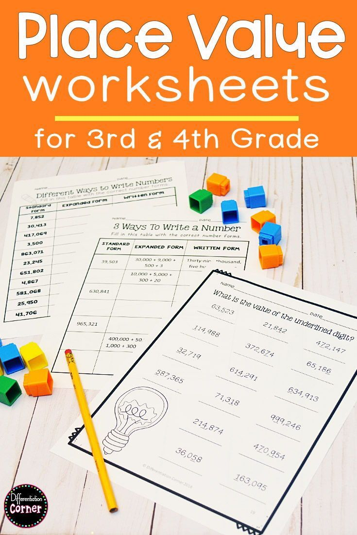 Place Value Printables 4th Grade Math Centers Elementary Math Centers Math Groups Special Education Math [ 1102 x 735 Pixel ]
