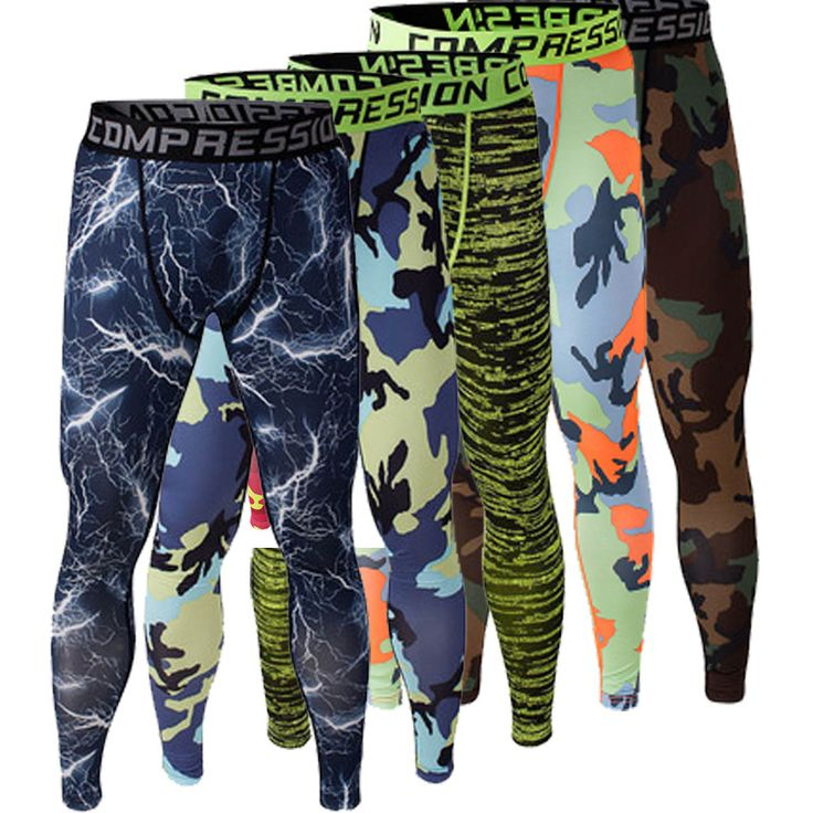 Skinny Sweatpants for Men Compression Pants Men Fashion Leggings Men Jogger Camouflage Compression Fitness Pants ElasticTrousers