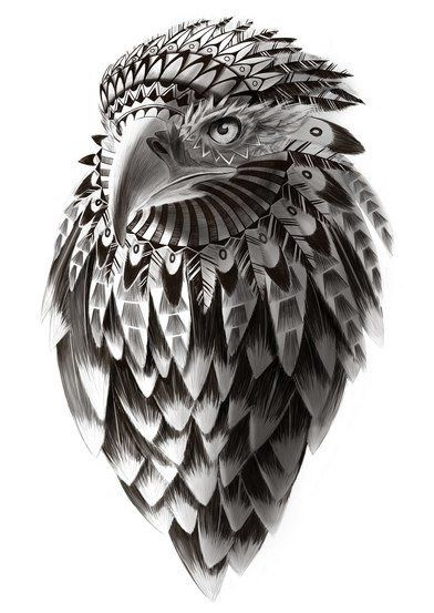 Awesome hawk design. Something like this, but with an owl on the shoulder would be really nice.  | followpics.co