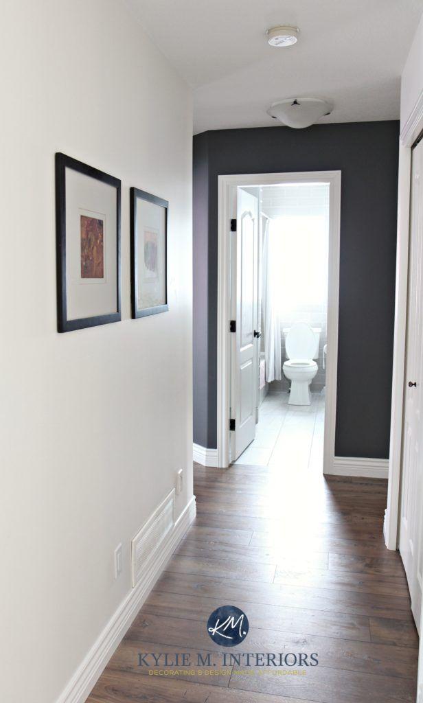 Navy Feature Wall Hallway