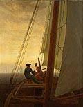 On Board a Sailing Ship by Caspar David Friederich