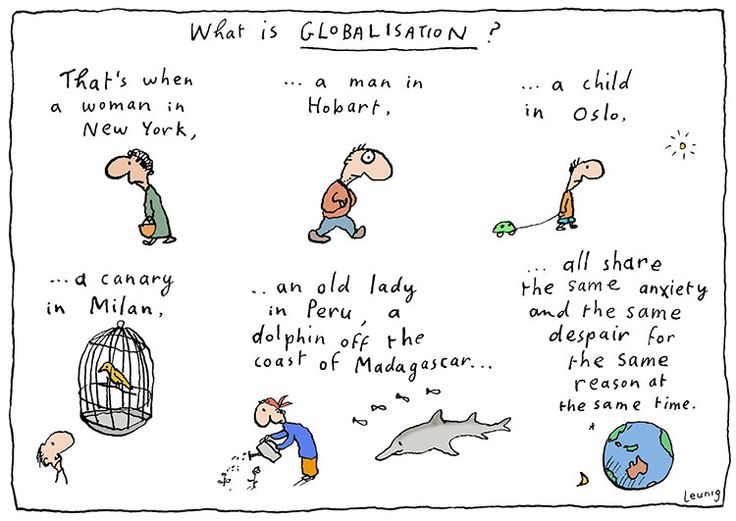 Globalisation. Michael Leunig