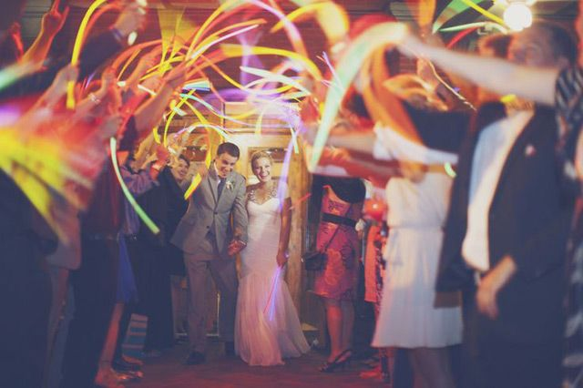Unfortunately, sparklers are prohibited in New Jersey, but there are many good ideas here.   30 Wedding Send-offs and Exits - Mon Cheri Bridals