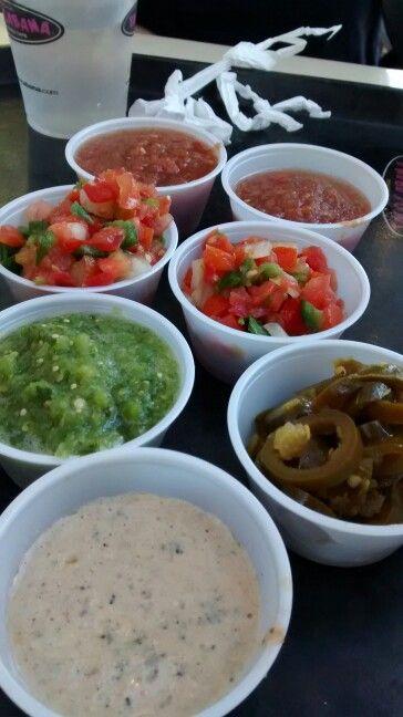 Taco cabana sauces from Austin TX