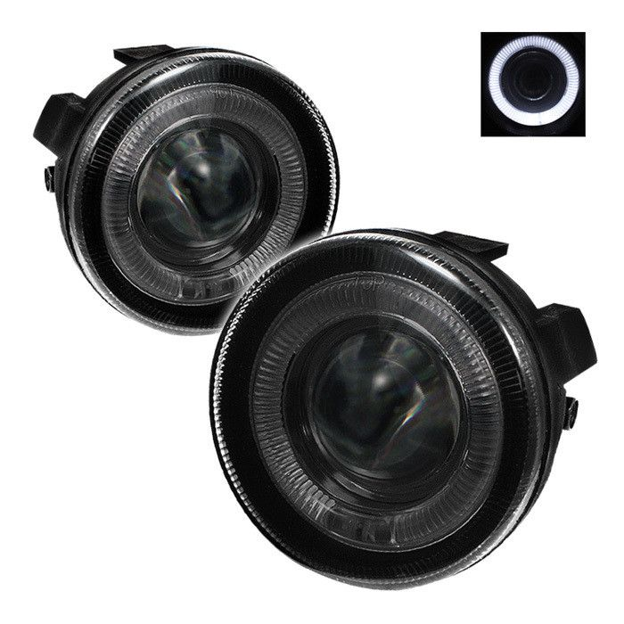 ( Spyder ) Dodge Dakota 01-04 / Dodge Durango 01-03 Halo Projector Fog Lights w/Switch - Smoke