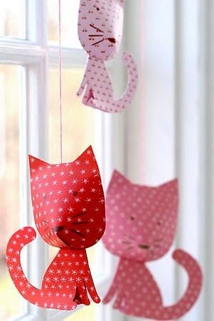 kitty cat garland/mobile: