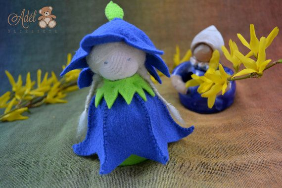 Little Bluebell - Waldorf inspired flower child for the nature table