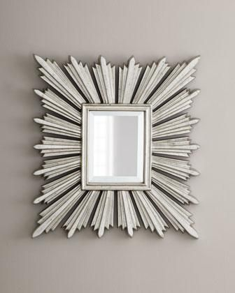 Silver-Leafed Sunburst Mirror - Neiman Marcus