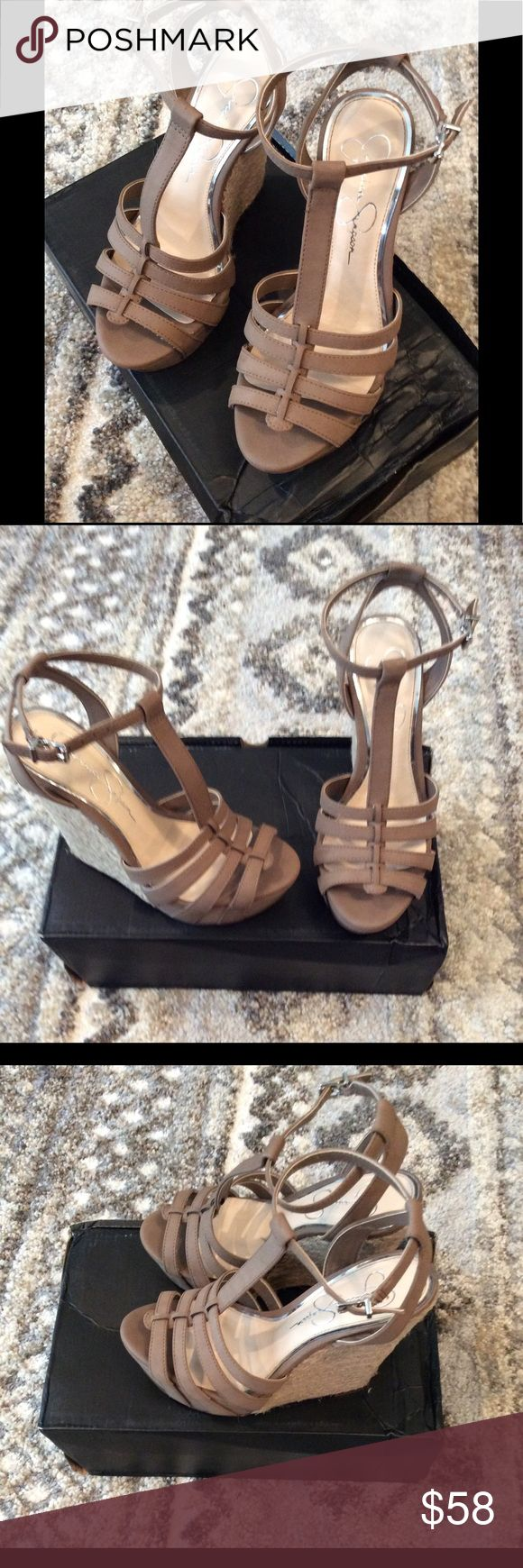 Jessica Simpson Wedge Shoes New! Excellent condition! Jessica Simpson Shoes Wedges