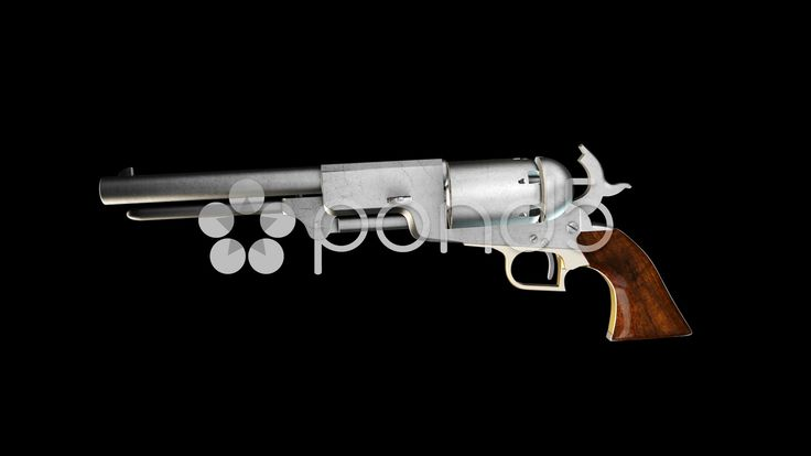 Old Revolver with Alpha - Stock Footage | by maraexsoft