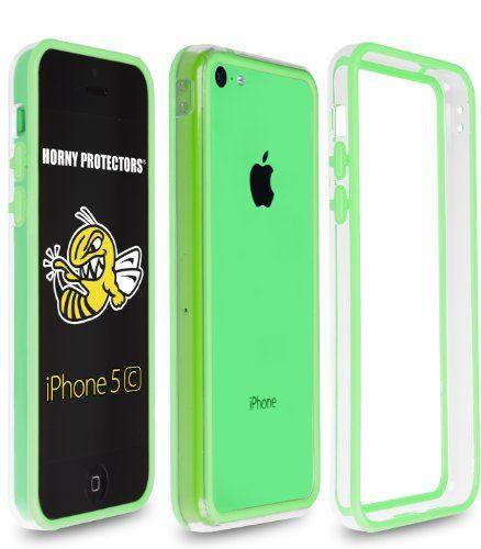 Horny Protectors® iPhone 5 C Bumper del parachoques (TPU) verde transparente (de goma) con púrpura botón del mismo color - http://www.tiendasmoviles.net/2013/11/horny-protectors-iphone-5-c-bumper-del-parachoques-tpu-verde-transparente-de-goma-con-purpura-boton-del-mismo-color/