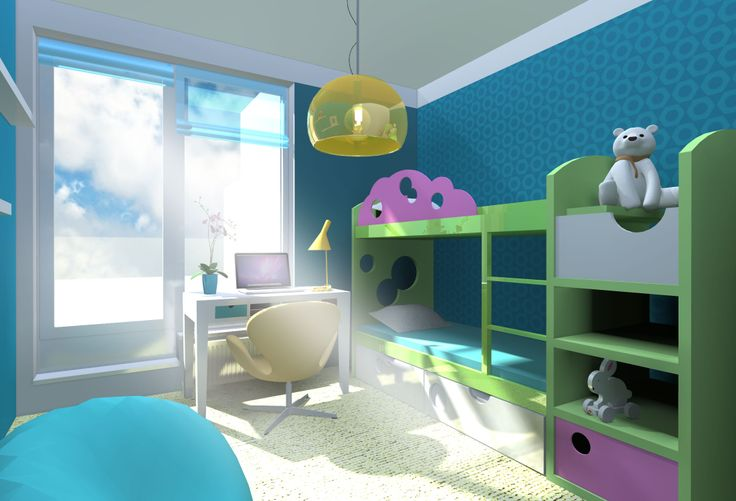 Kid´s room   home decor   interior design   vizualisation
