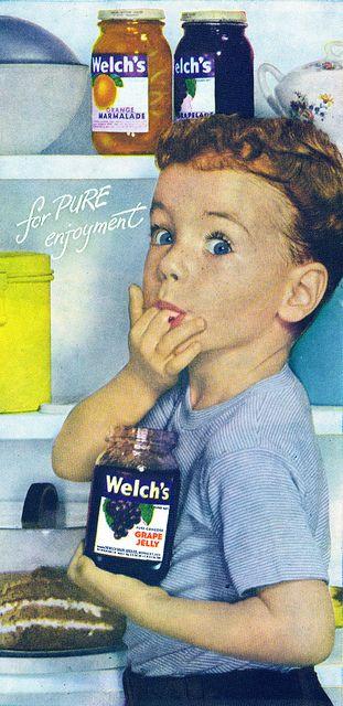 1948年、昭和でいえば23年  ウェルチのジャム。