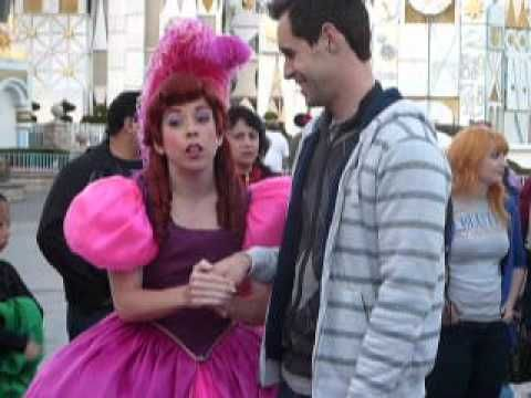 Probably one of the funniest things ever! :) Engagement Proposal Challenge between Anastasia & Drizella at Disneyland