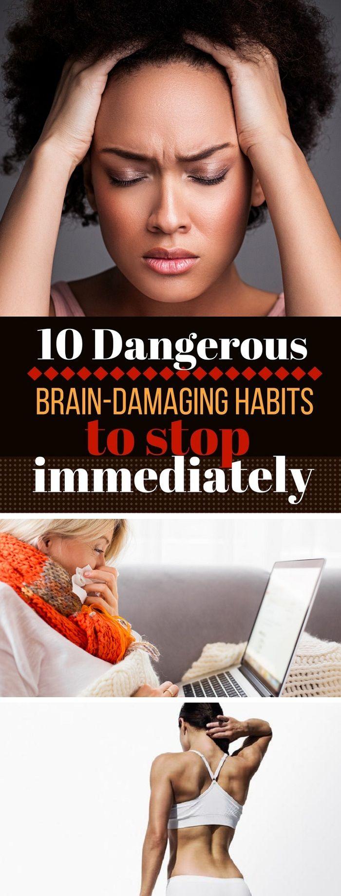 10 Dangerous Brain-Damaging Habits to Stop Immediately