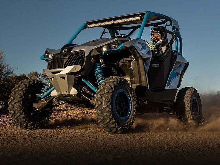 New 2016 Can-Am Maverick X ds TURBO 1000R Hyper Silver & ATVs For Sale in Missouri. 2016 Can-Am Maverick X ds TURBO 1000R Hyper Silver & Octane Blue, Sale price is based on the manufacturer's suggested retail price (MSRP) and is subject to change. Sale price excludes destination charges, optional accessories, applicable taxes, installation, setup and/or other dealer fees. This package enables you to lead the pack with the most powerful four-seater sport side-by-side in the industry. Its…