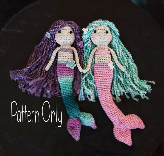Crocheted Mermaid Doll Pattern Amigurumi by ALRinspirations