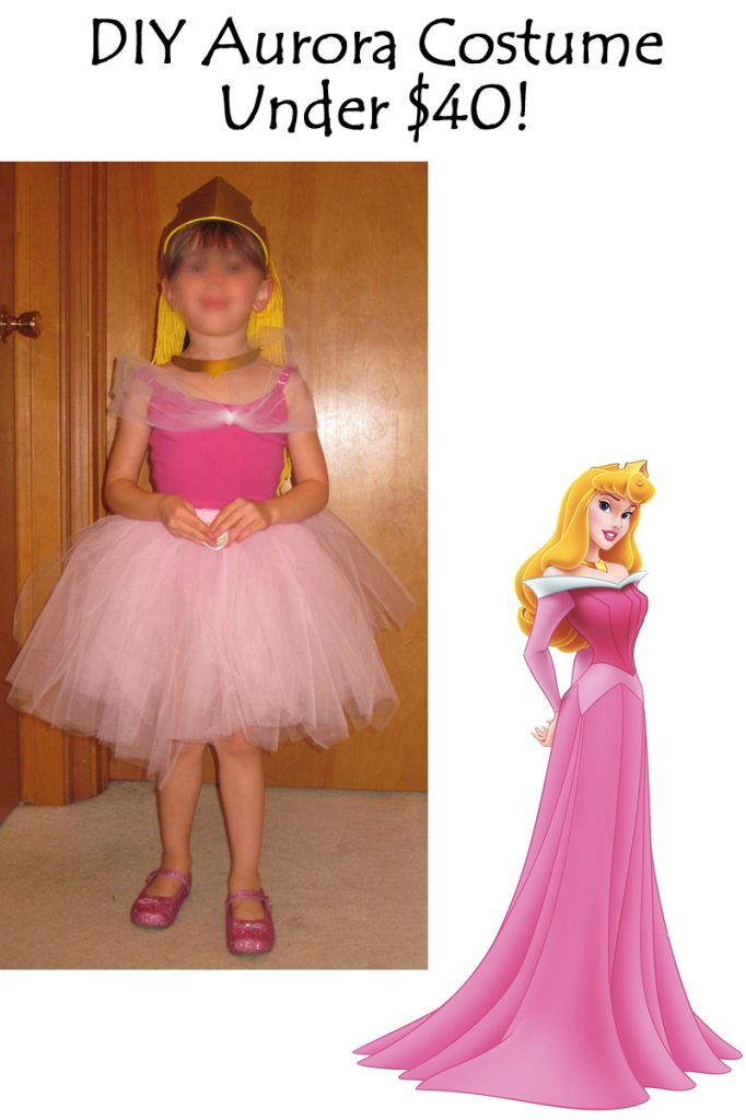 cheap diy aurora disney sleeping beauty costume for kids babies and adults great for a disney trip dress up or halloween the frugal flock - Disney Princess Halloween Costumes Diy