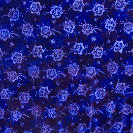 Terciopelo Flor Azul Eléctrico