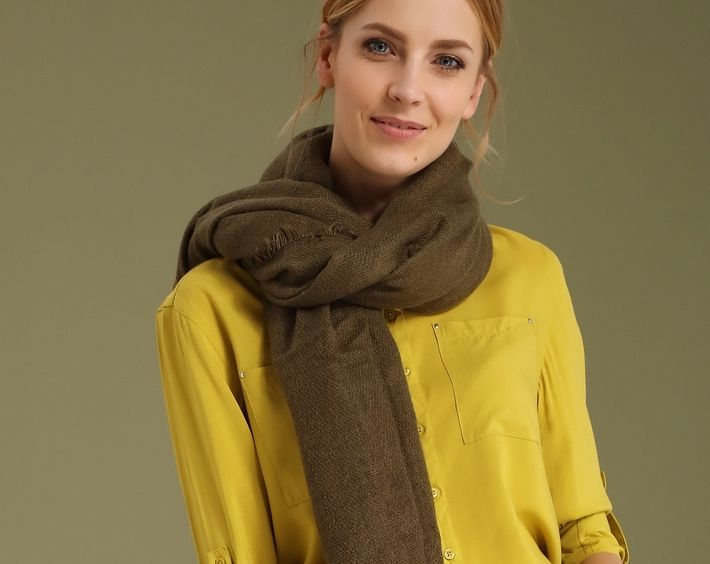 Chusta damska Top Secret z kolekcji wiosna 2017 khaki scarf