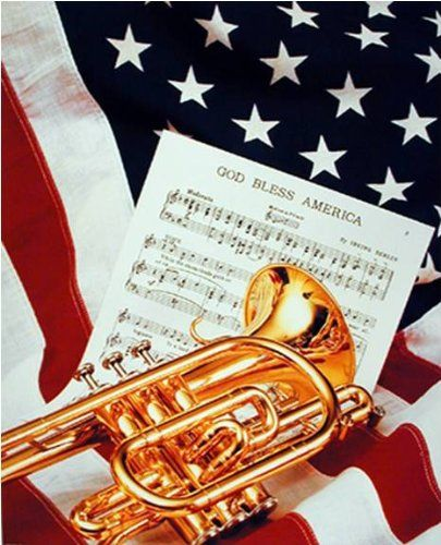 Just Awesome! Spruce up your walls with this unique style wall poster. This beautiful wall poster will be a stunning and elegant addition to any home. It adds a musical vibe to your space wherever it's hanging. This poster captures the image of American trumpet instrument & music sheet lying on American flag which instantly draws attention towards it and grab lot of attention.