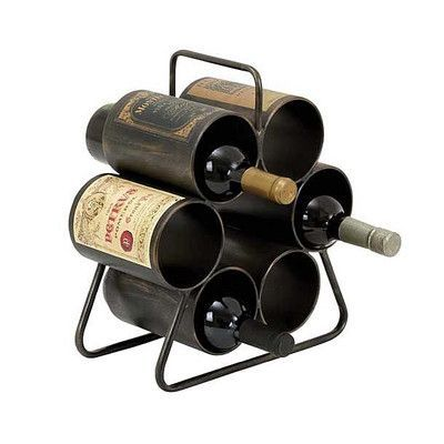 ABCHomeCollection 6 Bottle Tabletop Wine Rack