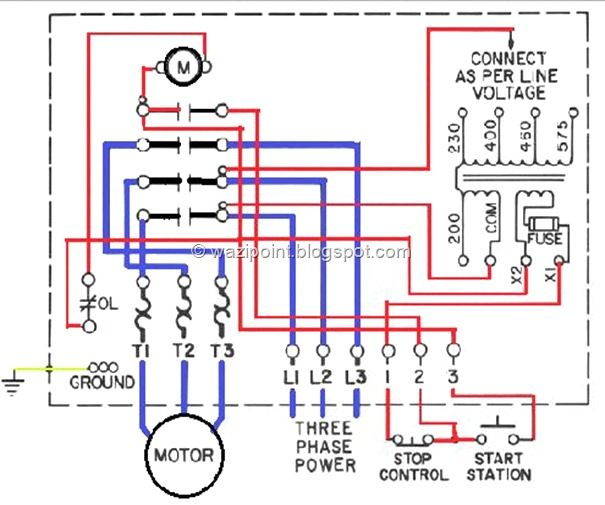 Low Voltage Controled Motor Wiring System Fig Low Voltage Motor Control Wiring Diagram Three Phase Single Phase In 2020 Power Stop Car Drawing Easy Ferrari 288 Gto