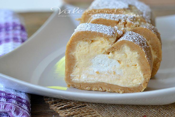Rotolo di biscotti con crema pasticcera e mascarpone