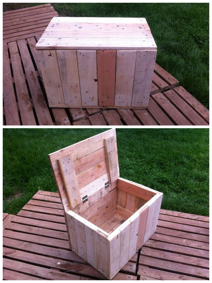 Pallet boxes for house #Box, #Pallets, #Recycled