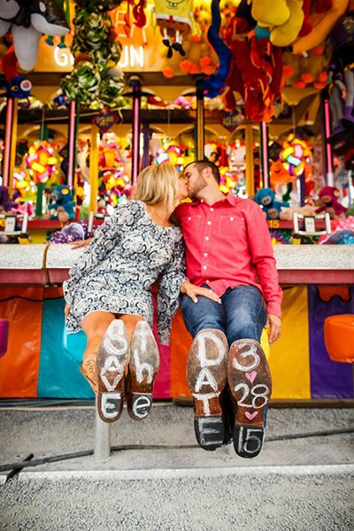 Carnival engagement photo